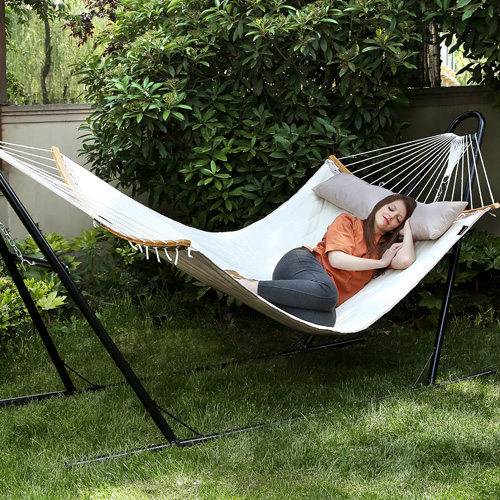 Create another temporary outdoor resting place with our hammock.